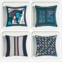 Luxe européen souple Velvet Sofa Coussin décoratif couverture mode Imprimer Throw Taie Home Décor Taie d'oreiller