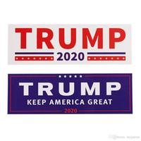 Trump Auto-Aufkleber 2 Styles 76 * 23cm Halten Make America Great Again Donald Trump Aufkleber Autoaufkleber Neuheit-Einzelteile 10pcs / set