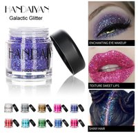 HANDAIYAN Holografik Glitter 12 Renkler Göz farı Palet Pudra Denizkızı Pigment Işıltılı Pullu Gözler Makyaj Festivali Kozmetik 12pcs