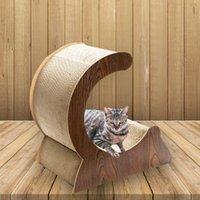 Lit de chat de carton courbé 24 pouces avec tampon à gratter Insert Catégorie Cat Lounge Scratching Post