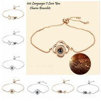 8 Styles 100 Languages I Love You Bracelets Projection Bangl...
