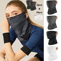 Fietsendoppen maskers multifunctionele hoofd sjaal halskap met filter wasbare streetwear ademend bandana comfortabele zachte sjaals voor een