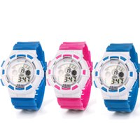Mode Junge Mädchen Kind Kind Sport Wasserdichte LED-Licht Analoge Digitale Armbanduhren deportivo hombre große wanduhr mechanismus