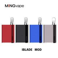 2019 authentique Mingvape iBlade Box Mod Vs IMINI magique 710 Vape Mod 400mAh Batterie Préchauffage pour 510 Vaporizer Discussion E Cigarette DHL