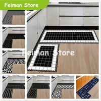 Modern Geometrik Mutfak Mat Kaymaz Banyo Halı Ev Giriş / Koridor Kapı Mat Gardırop / Balkon Alanı Halı Yaratıcı Halılar