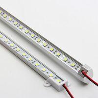 U / V 5050 LED شريط الضوء الأبيض أبيض دافئ 36LED 0.5M SMD الصمام مجلس الوزراء الصلبة قطاع DC 12V معرض LED قطاع الصلب