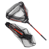 Telescoping For  Fishing Pole Foldable Aluminum Alloy Retractable Landing Net Fishing Net