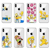 Le luxe dur PC Phone Dessins animés Simpsons Mode Anime cas pour l'iPhone 11 Pro MAX 5 SE 6 6S 5S Plus 7 8 Plus X10 XR XS MAX