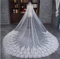 Nouveaux voiles de mariée 3m Dentelle Train longue Belle Boutique coréenne Mopping Boutique Veil Veil Tulle doux Veils de mariage