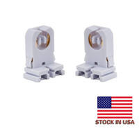 Stock In USA + Screw Type T8 Lamp Holder JACKYLED 200-pack Non-shunted Light Socket For LED Fluorescent Tube Replacements