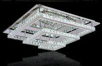 K9 cristal pendientes de la lámpara moderna simple del LED lámpara de techo rectangular de acero inoxidable sala de estar de la lámpara de luz