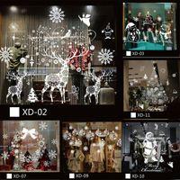 Muro di Windows di Natale dei cervi del pupazzo di neve rimovibile adesivi in vinile Art Home Decor Lot