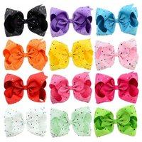 Jojobow Handmade Дети лук Hairclip дюйма Цветной Алмазный пузырь цветок украшения для волос
