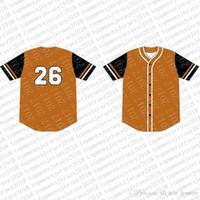 Вверх на заказ трикотажные изделия бейсбола Mens вышивки Logos Джерси Бесплатная доставка Дешевые оптовая любое имя любое число Размер M-XXL 86