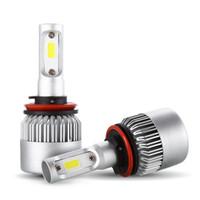 S2 H8 H9 H11 زوج من سيارة LED الأم المصباح 9 - 30 فولت 72W 6000K مصباح أمامي