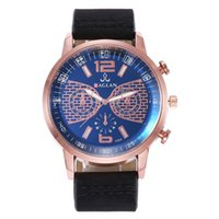 Großhandel Subdials Men Mode Faux Leder Band Quarz Analog Business Armbanduhr Geschenk