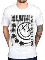 Official Blink 182 SpArrived Out Jumbo Print T Shirt Rock Ba...