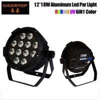 TIPTOP Nouvelle arrivée 12x18W RGBWA UV 6in1 silencieuse Led Par lumière Non étanche IP20 Pas de travail bruit boîtier en aluminium Par Cans 110V-220V