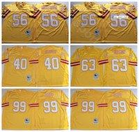 NCAA Futbol 56 Hardy Nickerson Jersey 63 Lee Roy Selmon 99 Warren Sapp 40 Mike Alstott Renk Sarı Erkekler Vintage Dikiş Iyi