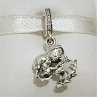 2020 Festa della mamma argento 925 coppia sposata ciondola branello di fascino adatto della collana dei braccialetti i monili europei di stile Pandora
