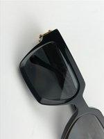 남자 디자인 선글라스 1165 평방 프레임 빈티지 반짝이 골드 여름 UV400 렌즈 스타일 레이저 최고 품질 96006