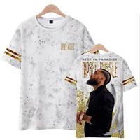 Topos de verão 2019 NIPSEY HUSSLE T Shirt Homens Moda Estilo Hip Hop Legal Casual 3D Tshirt Homens Hip Hop Casual Streetwear Tshirt Homme