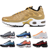 NIKE AIR MAX PLUS TN SE tn Plus Soldes Chaussures de sport pour dames de design, Ultra, or, GREEDY Orange Throwback, avenir, TARTAN, chaussures de jogging TN rouges 7-12