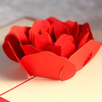 3D Hollow Rose Greeting Card for Couple Handmade Creative DI...