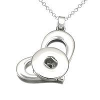 Мода взаимозаменяемые металлическое сердце имбирь Кристалл ожерелье 071 Fit 12 мм 18 мм Оснастки кнопка кулон ожерелье Шарм ювелирные изделия для женщин подарок