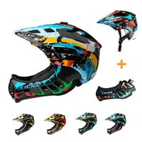 Full Covered Kid Bicycle Helmet Bike Children Full Face Cycl...