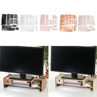 Cherry White Black Wood Color Wooden Monitor Riser TV Stand ...
