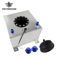PQY RACING - Tanque de compensación de aluminio de 20L con sensor Celda de combustible 20L con tapa / espuma en el interior PQY-TK39
