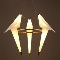 Modern Bird Cage Lampada a sospensione Soggiorno Camera da letto origami uccello luce Cucina Sala da pranzo Casa di carta appesa apparecchi di illuminazione