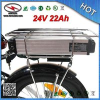 FREIES VERSCHIFFEN 3.7V 2.0A 18650 Li-Ionbatterie-Satz 700W 24V 22Ah für elektrisches Fahrrad Ebike mit Gestell 30A BMS Aluminiumfall + Aufladeeinheit