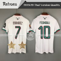 nuevas estrellasnuevo 2019 Selección nacional de fútbol de Argelia Casa blanca 19 20 Hombres Camisetas de fútbol Camiseta de fútbol Camiseta de manga corta de fútbol de Argelia