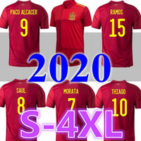 2020 إسبانيا بعيدا الصفحة الرئيسية Soccer Jerseys 2020 2021 إسبانيا Camiseta de Futbol Asensio Morata كرة القدم قميص Isco Ramos Iniesta Mailleot القدم