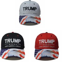 Trump Chapeau d'Eagle Donald Trump Baseball Hat Keep America Great Outdoor réglable respirant Hip Hop Snapback Caps LJJO7919