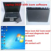 2019,07 Icom a2 plus récents SSD 480g-soft ware dans un ordinateur portable Dell D630 Diagnositic pour voiture BMW l'utilisation d'outils de réparation automobile directement