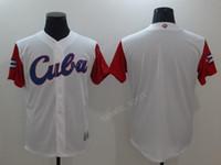 2017 العالم مراوح كوبا البيسبول الفانيلة WBC رخيصة الرجال كوبا كلاسيكي جيرسي اللون الأبيض للرياضة تنفس أعلى جودة شحن مجاني