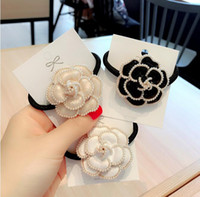 Korea Dongdaemun hair accessories high- end camellia pearl ha...