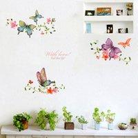 Vlinder bloem wijnstok muurstickers woonkamer showcase deur huis decoratie muurschildering kunst decals achtergrond vlinders stickers
