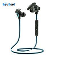 AMW-810 Mikrofonlu Spor Bluetooth Kulaklık Kablosuz Bluetooth V4.1 Kulaklık Stereo Kulaklık Xiaomi Huawei iPhone için