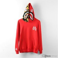 2017 New Red Bap A Bathing A ape Giacca SHARK Testa Camo FULL ZIP HOODIE A maniche lunghe Abbigliamento Shark Hoodie Cappotto Cappotto Camo Full Zip