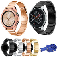 Stainless Steel Watchband 20mm 22mm for Samsung Galaxy Watch 42mm 46mm SM-R810/R800 Quick Release Band Metal Strap with Tool