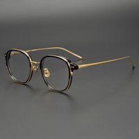 2019 New Pure Titanium Brillengestell Männer Retro Frauen Runde Korrektionsbrillen Harry Vintage Potter Myopie Optische Rahmen Brillen