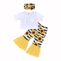 kids designer clothes girls outfits children tops+ Sunflower ...