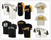 NCAA Long Beach State 49ER Colosseum Batter Up Baseball 사용자 정의 남성 여성 청소년 모든 번호 이름 스티치 야구 유니폼 S-4XL