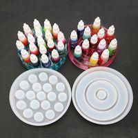 Caixa de armazenamento Moldes de silicone resina titular de garrafa de corante de pigmento de resina UV resina resina molde para caixa fazendo jóias artesanato molde suprimentos