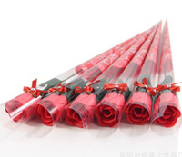 Papel de solo color Flor de jabón simulación creativa rosa jabón flor de San Valentín