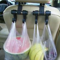 Assento de carro Brasão Duplo ganchos da bolsa saco de compras Hanger armazenamento Hooks Car Seat clipes Voltar Auto Fastener Clip Holder para saco de resíduos
